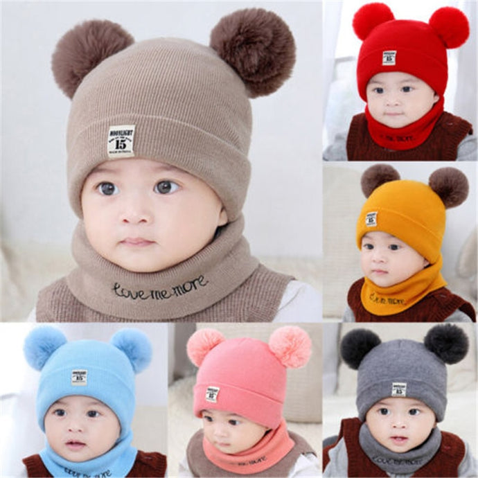 2 Pieces Baby Beanies