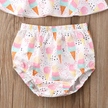 Load image into Gallery viewer, Baby Girls Ice Cream Summer Outfit Set