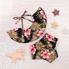 Load image into Gallery viewer, Sweet Summer Floral  Baby Girls Tops Short Pants Outfit