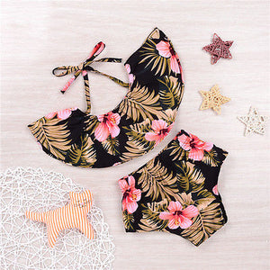 Sweet Summer Floral  Baby Girls Tops Short Pants Outfit