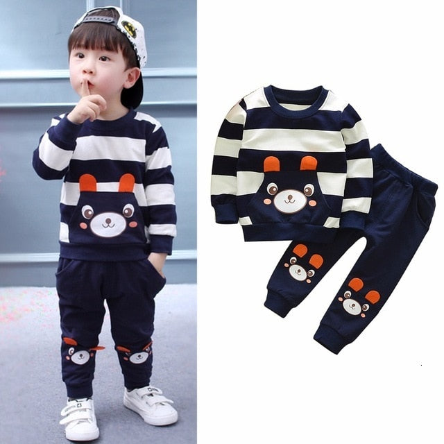 Striped Bear Baby Ensemble