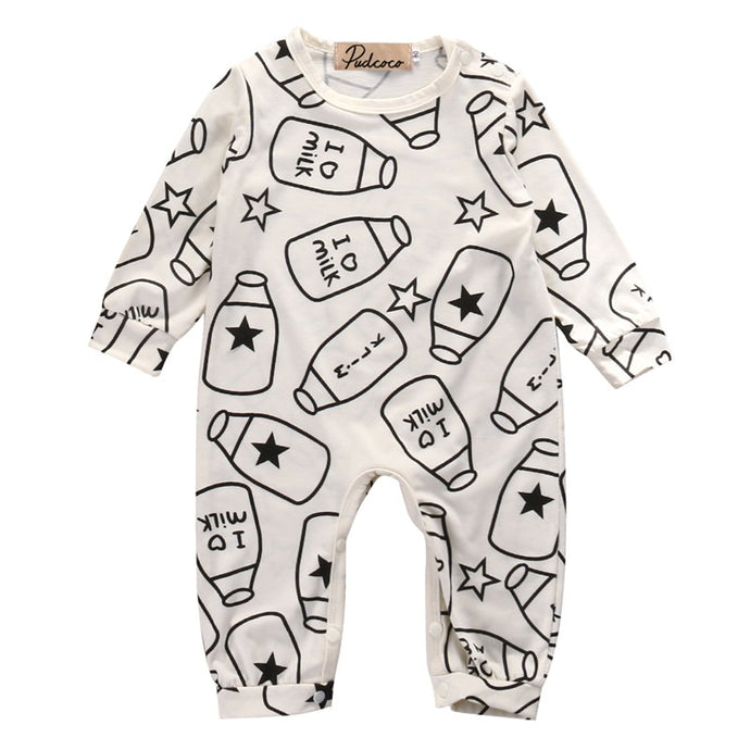I Love Milk Baby Romper