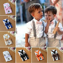 Load image into Gallery viewer, Baby Kids Adjustable Suspender and Bow Tie Set