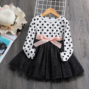 Polka Bow Tie Dress