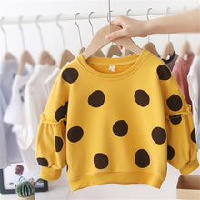 Load image into Gallery viewer, Long Sleeve Cotton Dot Hoodies Sweatershirt