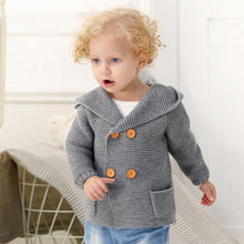 Load image into Gallery viewer, Baby Cardigan Hoodie Sweater