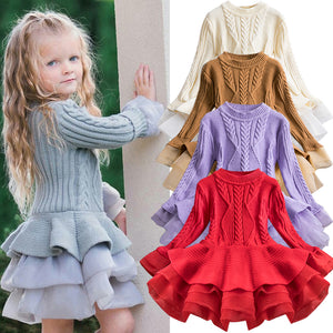 Knitted Chiffon Tutu Dress