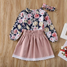 Load image into Gallery viewer, Cute Toddler Baby Girl Kids Clothes Floral Outfit Set