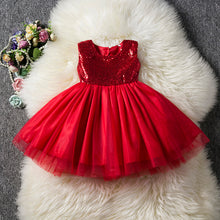 Load image into Gallery viewer, Baby Sequins Flower Girl Dress