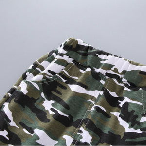 New Summer Army Camouflage Short Sleeve Shorts Kids Clothes