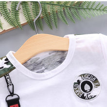 Load image into Gallery viewer, New Summer Army Camouflage Short Sleeve Shorts Kids Clothes