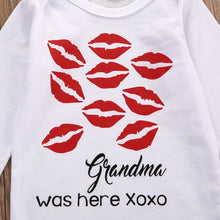 Load image into Gallery viewer, Grandma Was Here Xoxo Kissy Rompers