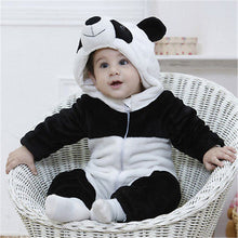 Load image into Gallery viewer, Panda Costume Baby Hooded Climbing Pajamas