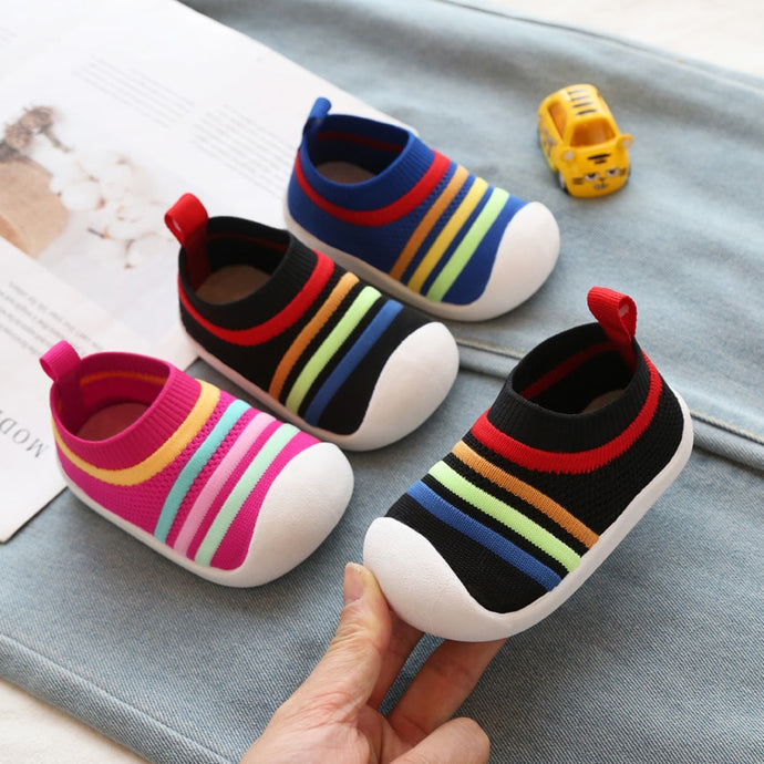Comfortable Non slip Knitting Soft Bottom Baby First Walkers Shoes