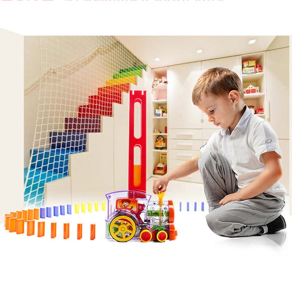 Domino Rally Train Toy