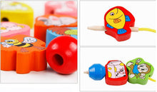 Load image into Gallery viewer, 26pcs Colorful Lacing Wooden Toy