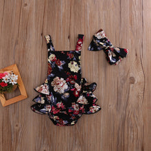 Load image into Gallery viewer, Baby Girls Flower Romper Sleeveless Jumpsuit Outfits