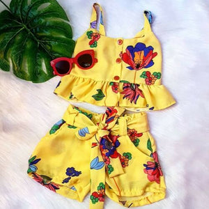 Summer Cute Baby Girl Floral Outfit