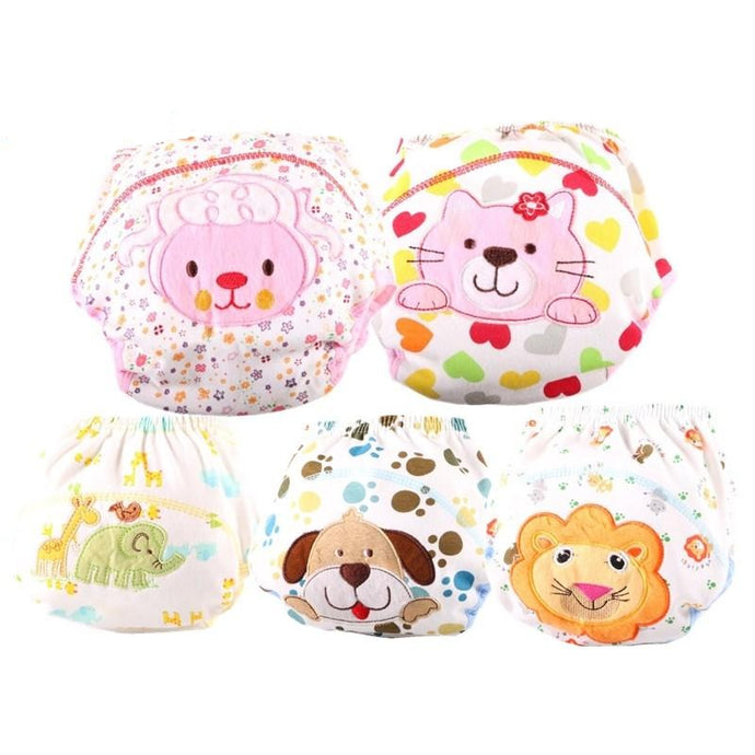 Cute Washable Baby Cloth Diapers