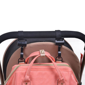 2 Pieces Baby Bag Stroller Hooks 360 Degree