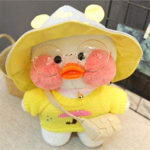 White LaLafanfan Duck Plush Toy