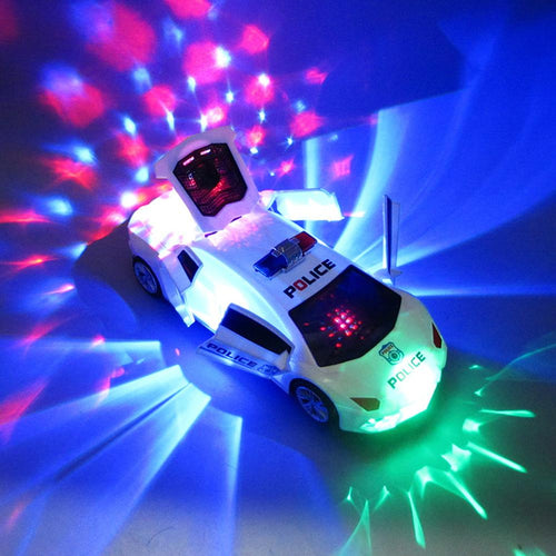 Lighting Music Police Car