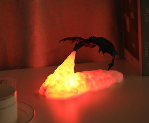 3D Printed LED Fire Dragon Lamps