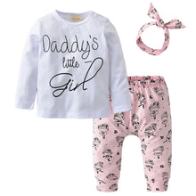 Load image into Gallery viewer, Daddy's little girl three pieces set