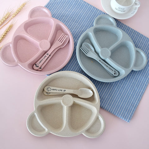 3Pcs/Set Baby bowl+spoon+fork