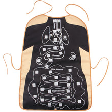 Load image into Gallery viewer, Black Anatomy Apron