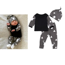 Load image into Gallery viewer, 3PCS Baby Clothing  Reindeer Print