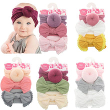 Load image into Gallery viewer, Solid Nylon Bow Headbands For Kids