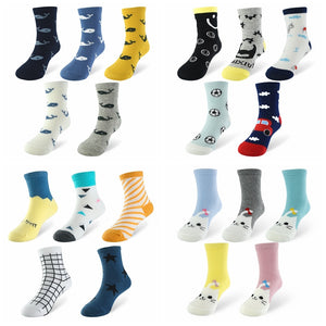 5 Pairs Long Colorful Socks