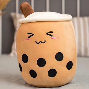 Cartoon Bubble Tea Cup Pillow Stuffed Toy