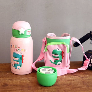 500ML Leak-Proof Water Bottle with Straw and Cup