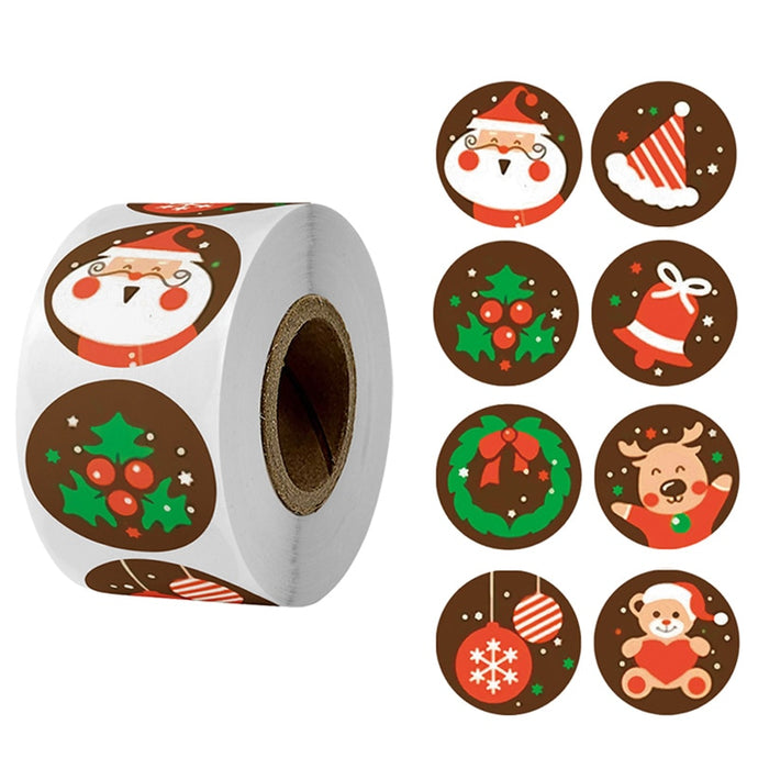 500pcs Merry Christmas Stickers
