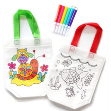 Load image into Gallery viewer, Kids DIY Drawing Craft Color Bag with Safe Watercolor Pen