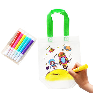 Kids DIY Drawing Craft Color Bag with Safe Watercolor Pen