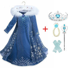 Load image into Gallery viewer, Princess Elsa Costumes Party Dresses