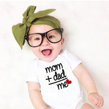 Load image into Gallery viewer, Dad + Mom short sleeve Romper Outfit