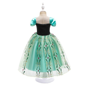 Anna Girl Cosplay Snow Queen Princess Costume