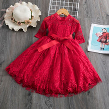 Load image into Gallery viewer, Girls Flower Embroidery Princess Dress