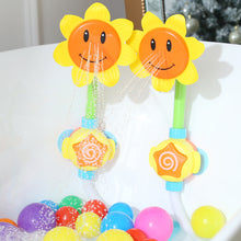 Load image into Gallery viewer, Baby Sunflower Shower Faucet Spray Bath Toy