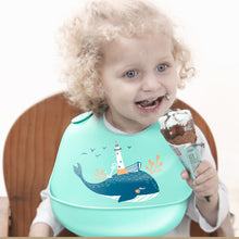 Load image into Gallery viewer, Adjustable Silicone Waterproof Feeding Bibs