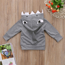 Load image into Gallery viewer, Baby Sweatshirt Shark Pattern Hoodie Jacket