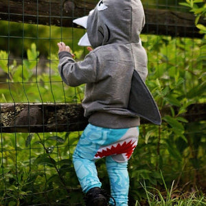 Baby Sweatshirt Shark Pattern Hoodie Jacket