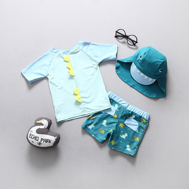 Dinosaur Print  Swimming Suit for Boy
