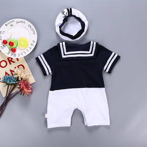 Sailor Style Hat and Romper