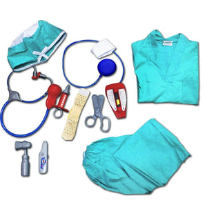 Doctor Dress Up Costume with 11 Pcs Accessories Play Set