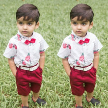 Load image into Gallery viewer, New Floral Baby Boy Gentleman Outfits Sets